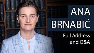 Ana Brnabić | Prime Minister of Serbia | Oxford Union