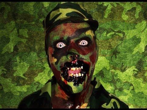 zombie soldier bia bitten in action makeup tutorial