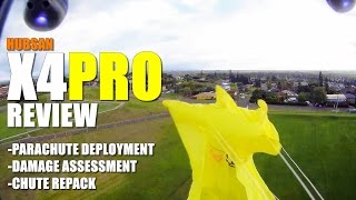 HUBSAN X4 PRO FPV GPS QuadCopter Review - Part 2.5 - [Chute Deploy, Damage Report, Chute Re-Pack]