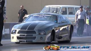 BK RACE ENGINES TWIN TURBO MUSTANG 6.36 @ 228 MPH SYDNEY DRAGWAY 25.10.2014