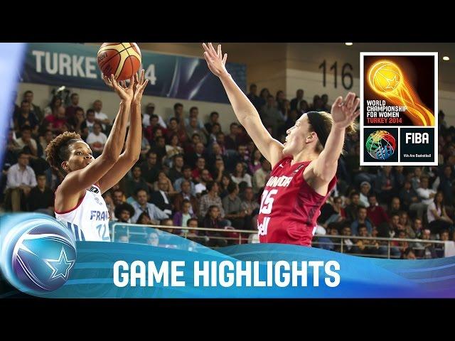 France v Canada - Game Highlights - Group B - 2014 FIBA World Championship for Women