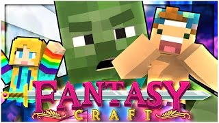 A GIANT ZOMBIE ATTACKS US?! | EP 3 | FantasyCraft (Minecraft Modded Survival)