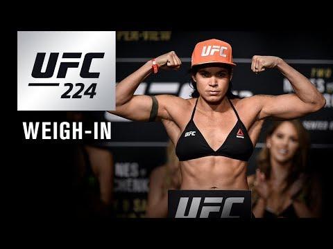 UFC 224: Weigh-in