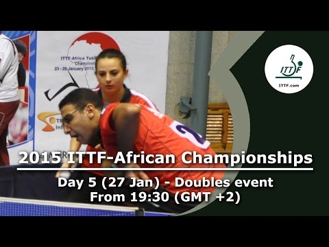 2015 ITTF-African Championships Day 5 - Men's Doubles SF, Mixed Doubles Finals