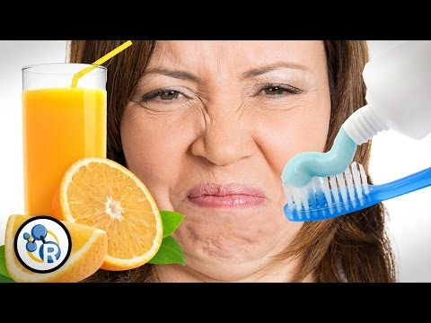 Why Does Toothpaste Make Orange Juice Taste Bad? - Reactions