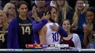 Alaska Airlines Arena, says goodbye to Kelsey Plum