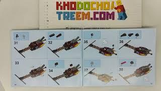 Hướng dẫn lắp ráp Lepin 14004 Lego Nexo Knights 70314 Beast Master's Chaos Chariot giá sốc rẻ nhất