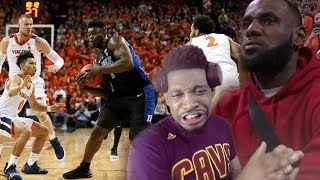 LEBRON WATCHES #2 DUKE VS #3 VIRGINIA! GAME OF THE YEAR!!!