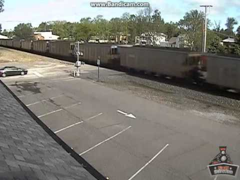 BNSF SD70ACe Leader with an Executive Locomotive @ Chesterton, IN Railcam, 5/24/13
