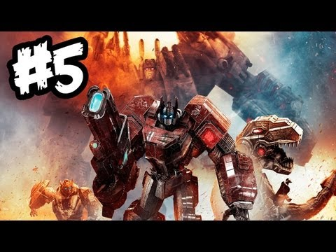 Transformers Fall of Cybertron - Gameplay Walkthrough - Part 5 - TEAMWORK!! (Xbox 360/PS3/PC)