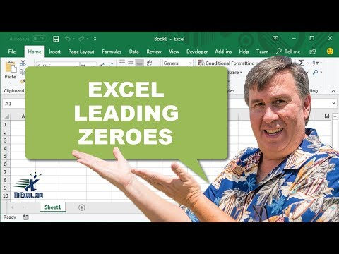 excel how to keep leading 0