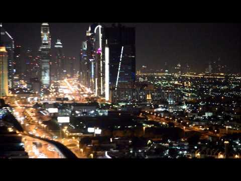 DUBAI NIGHT VIEW | BURJ KHALIFA | WTC | EMIRATES | ROOFTOP | LIGHTS