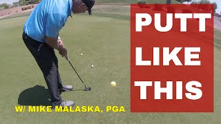 MALASKA putting Method to drain more putts TODAY