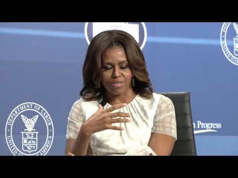 Robin Roberts and Michelle Obama at Working Families Summit