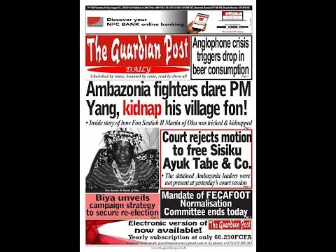 Breaking News!  Cameroon News Paper Today August 31st 2018! Watch, Read an See Something For