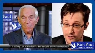 "Ron Paul Interviews Snowden on the ""Rise of the Deep State"""