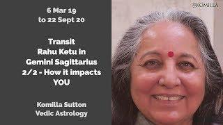 Transit Rahu Ketu in Gemini Sagittarius 2/2 : Komilla Sutton Vedic Astrology