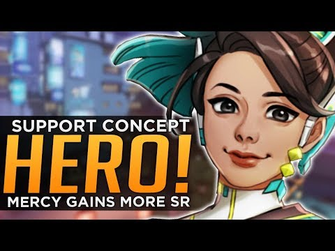 Overwatch: NEW Support Hero Tara Concept! - Mercy Gains More SR!