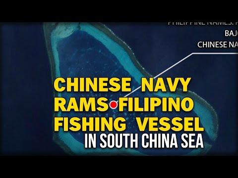 CHINESE NAVY RAMS FILIPINO FISHING VESSEL IN SOUTH CHINA SEA