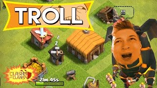 ACCOUNT TROLL IN CLASH OF CLANS! Clash of Clans ITA Troll Village