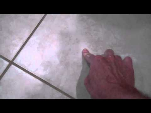 Hiding a Tile Floor Crack