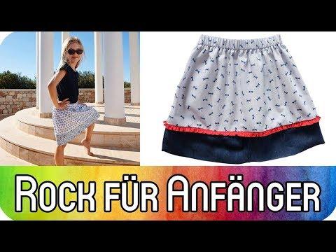 06 49 Nähen für Anfänger  Rock für Kinder nähen   Nähen für Mädchen   Rock