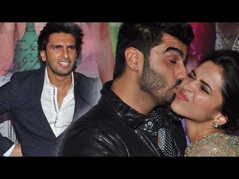 Deepika Padukone Hugs Ranveer Singh And Kisses Arjun Kapoor