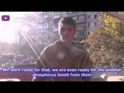 eng subs Interview with Givi about situation in Donetsk airport 06 10 14