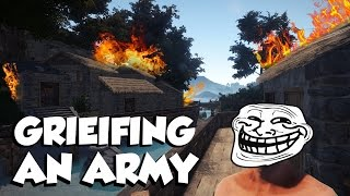 GRIEFING THE FACEHOLE ARMY!! | Rust