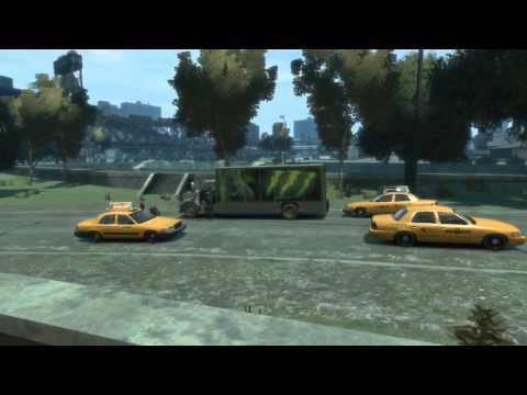 GTA IV mods -Stitch IV- Delivery Vans &amp; Taxi Adds