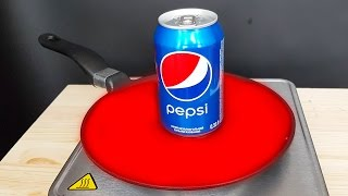 EXPERIMENT Glowing 1000 degree PAN VS PEPSI