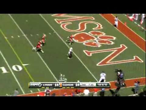 ESPN - Miami Hurricanes vs Clemson Tigers Highlights (10-2-2010)