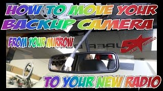 How to move your mirrow camera to your new touch sceen radio