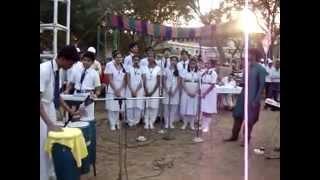 manki veena welcome song by aecs manuguruv students