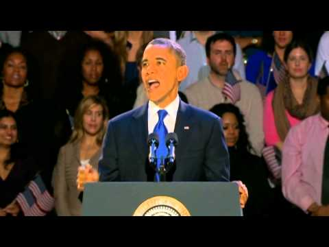 US election: President Barack Obama's victory speech highlights