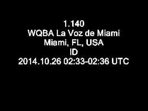1.140 WQBA La Voz de Miami, Miami, FL, USA ID