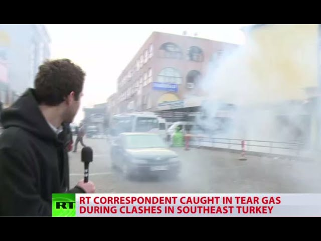 RT crew teargassed during clashes over murder of Kurdish lawyer in Turkey