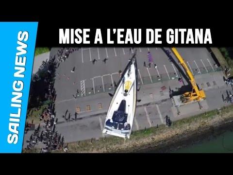 Vendée Globe - Mise à l'eau GITANA/Edmond de Rothschild