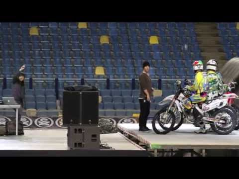 (2/3) Dj Chloe Martinez Monster Energy Extreme motocross Freestyle Tour 2011 Arnhem Holland
