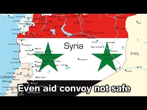 Homs, Syria: Aid convoy for beleagured citizens under fire