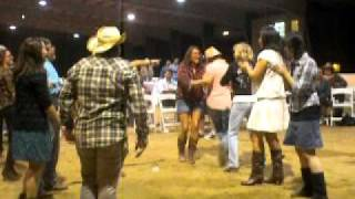 Brian and Leighanne Littrell square dancing.