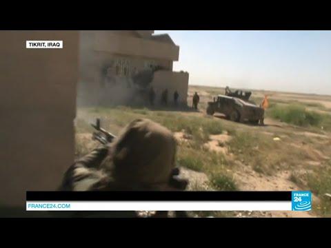IRAQ - Troops and militias retake parts of key town Tikrit from ISIS jihadis