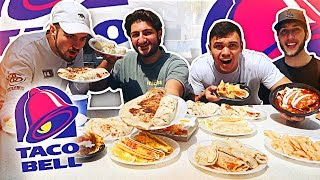 ENTIRE TACO BELL MENU IN 10 MINUTES CHALLENGE (ft. FaZe Banks)