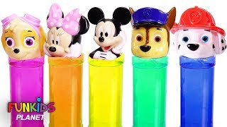 Paw Patrol & Mickey Mouse Color Slime Surprise Toys