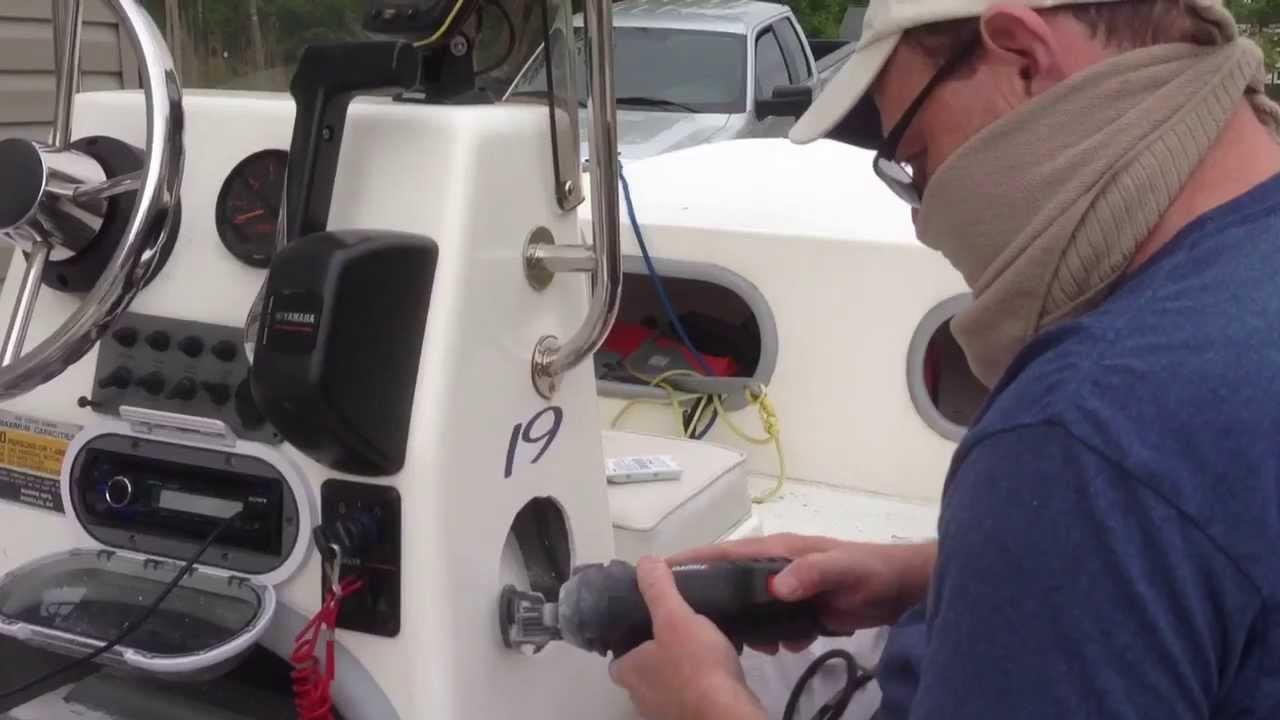 Installing boat speakers