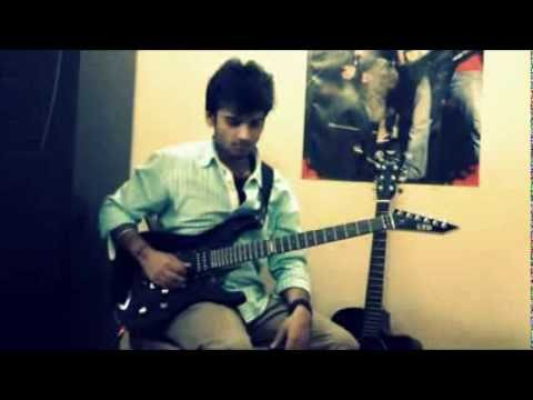 jana gana mana (Indian national anthem) on electric guitar with...