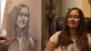 LIVE STREAM - Drawing a Portrait in Charcoal