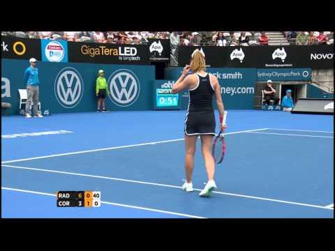 Agnieszka Radwanska v Alize Cornet highlights (1R) - Apia International Sydney 2015