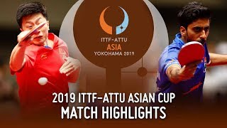 Ma Long vs Sathiyan Gnanasekaran | 2019 ITTF-ATTU Asian Cup (1/4)
