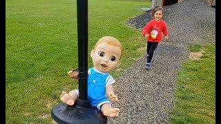 Baby Dolls Ride on Zipline